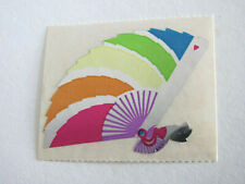 Rare Vintage Sandylion Foil Mylar Rainbow Fan Sticker Mod