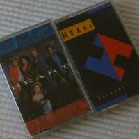2 Heart Cassette Tapes Heart 1985 Brigade 1990 Vintage