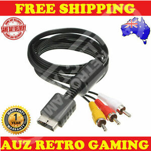 Playstation 1 2 3 PS1 PS2 PS3 AV RCA Cable TV Audio Video Cord