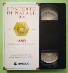 VHS Musicale CONCERTO DI NATALE 1996 Assisi Orchestra Sinfonica RAI no dvd(V151)