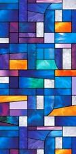 ABSTRACT STAINED GLASS PROLINE WINDOW FILM ATTRACTIVE DECORATIVE COLOR TINT