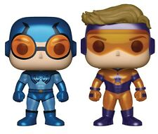 FUNKO POP HEROES BOOSTER GOLD & BLUE BEETLE PX VINYL FIG METALLIC 2 PACK NEW!