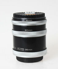 Vivitar automatic extension tube set for Canon FD mount cameras