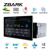 10.1'' Android 9.0 Double 2Din Car Radio Player Stereo GPS Navi WiFi Bluetooth