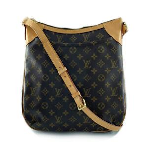 LOUIS VUITTON Odeon MM Shoulder Bag M56389 Monogram PVC coated canvas Brown ...