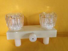 RV Bath Shower faucet Marine Mobile Home diverter -parchment with clear handle