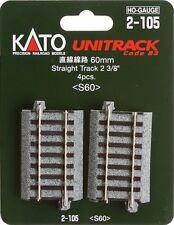 Kato 2-105 HO Unitrack 60mm 2 3/8in Straight 4pcs