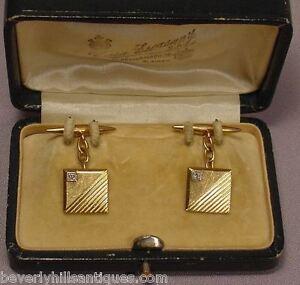 Antique Diamonds 18K Gold Cufflinks