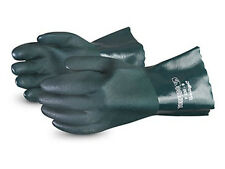 12 - SUPERIOR F230-9 Large Torpedo Chemical Resistant PVC Coated Gloves Gauntlet