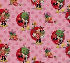 Remnant-MINNIE MOUSE-Minnie Goes Gardening-Disney Minnie Spot-Fabric-110x32cm