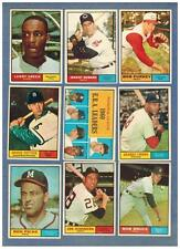 1961 TOPPS  BASEBALL EX to NRMT COMPLETE YOUR SET - U PICK ANY FIVE