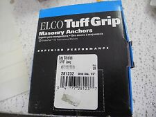 "Elco Tuff Grip Masonry Anchors, 5/16"" L, #281232, Lag Shields, Box of 50 - NEW"
