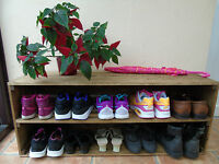 Handmade Rustic Style Wooden Shoe Cabinet/Rack- Many Colours and Sizes!
