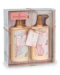 NEW RAYMOND WAITES  Gift Set Box Coconut & Sea Minerals w/Aloe Body Wash & Cream