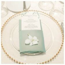 10 gold perline vetro CARICATORE piatto per matrimoni e cena feste 33cm NUOVO