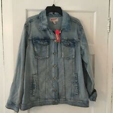 Arizona Jean Co. Women's Denim Jean Jacket Size Large Embroidered Cotton New