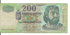 HUNGARY, 200 FORINT, 1998