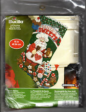 "Bucilla Felt Christmas Stocking Kit 86437 ""Santa's Bakery"" Stitching Applique"