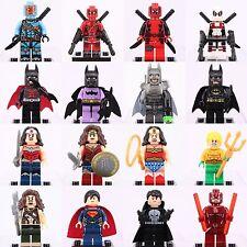16pcs SET Batman Superman Deadpool Wonder Woman Daredevil SuperHero fits Lego