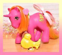 ❤️My Little Pony MLP G1 Vtg Tropical Ponies Hula Hula Sail-away Unicorn BRUSH❤️