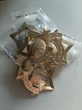 Netball Medals X 10 Gold Stars. Stock Clearance RRP 13.00