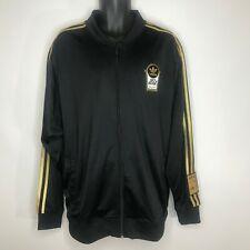 Adidas Kareem Abdul Jabar Skyhook Track Jacket L Black Gold Embroidered Spellout