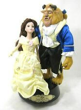 Disney Beauty & The Beast Ceramic Figurines on Rotating Musical Stand Must See!