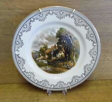 """Barratts Of Staffordshire Collectable 10"""" Plate - Country Scene With Hanger"""