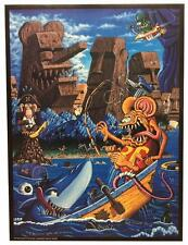 SIGNED AND DATED RK SLOANE POSTER RAT FINK GOES TO TIKI ISLAND R.K.