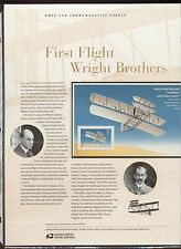 #3783 37c Wright Brothers First Flight USPS #686 USPS Commemorative Stamp Panel