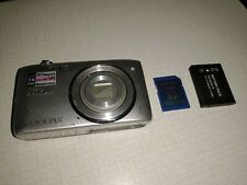 Nikon COOLPIX S3500 20.1MP Digital Camera - Silver + SD Card + Battery Fast ship