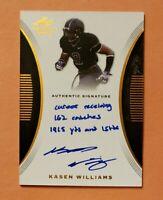 2015 Leaf Trinity, Kasen Williams, Browns RC, Rookie Inscription Auto Autograph