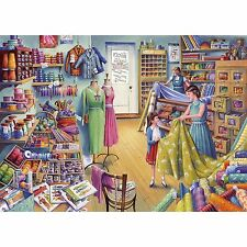 GIBSONS BEADS & BUTTONS HABERDASHERY NOSTALGIA 1000 PIECE JIGSAW PUZZLE
