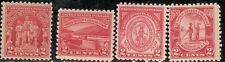 Commemoratives of 1929-30 MNH 4 different stamps