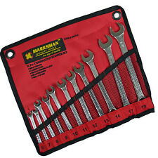 11 Piece Combination Spanner Set Wrench with Storage Wallet 6mm-19mm