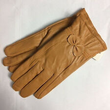 Lady Women's Warm Genuine Lambskin Leather Driving Soft Lining Gloves Winter