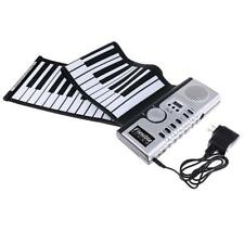 Electronic Keyboard Piano Roll Up Portable Flexible 61 Key Silicone MIDI Digital