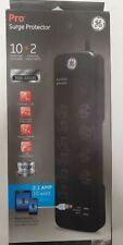 GE Premium 10 Outlet Surge Protector 11185 2 2.1 AMP USB Ports 10+2 NIB
