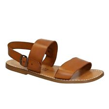 Hand made in Italy mens strappy sandals in vintage cuir real calf leather