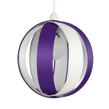 Modern Round Purple  Cream Fabric Ceiling Light Pendant Lamp Shade Lampshade