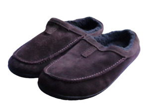Timberland Dark Brown Slip On Suede Leather Loafers Slippers Shoes Mens Size 10