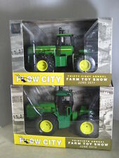 JOHN DEERE JD 8760 & 8850 TRACTORS PLOW CITY FARM TOY SHOWS NEW IN BOXES 1/32