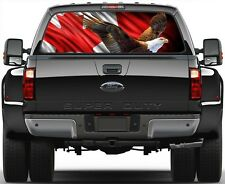 Canadian Flag Eagle Version 1 Rear Window Graphic Decal Truck SUV