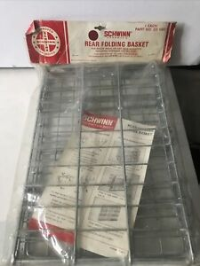 Schwinn  approved rear folding wire basket NOS  1974 Basket Only