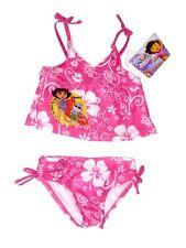 Girls Nickelodeon Pink & White Floral Strappy 2Piece Bikini Swimwear. Size:24mth