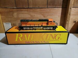 MTH RAIL KING BNSF PUMKIN DASH-9 LOCOMOTIVE 30-2129-0