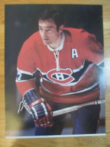 Official 1973 NHL Game Action FRANK MAHOVILICH No. 27 MONTREAL CANADIENS Poster