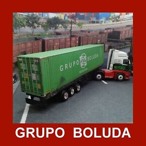 Grupo Boluda Pre-Weath Model Rail Freight Shipping Containers x 3 HO Gauge 1:87
