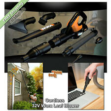 Worx Leaf Blower Cordless Sweeper Vac 32V Yard Lawn Handheld Cleaning Blowers