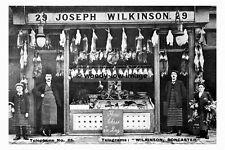 pt8820 - Doncaster , J Wilkinson Butcher , High St , Yorkshire - photograph 6x4